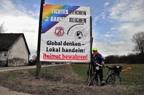 """Aktion """"Lichterzeichen – 2 Bahnen reichen!"""" kommt nach Berglern!"""